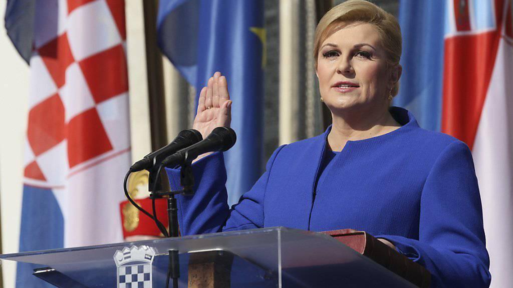 Kroatiens Präsidentin Kolinda Grabar-Kitarovic entscheidet über die Regierungsbildung (Archiv)