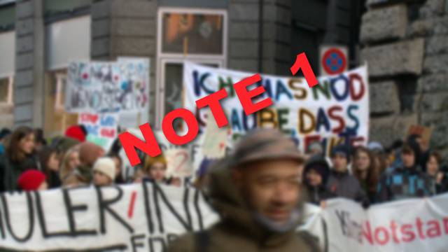 Note 1 für Klima-Streiker in Payerne – in Zürich unmöglich?