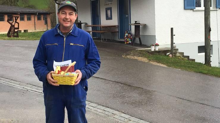 Martin Laube aus Lengnau findet das 3. Osternest