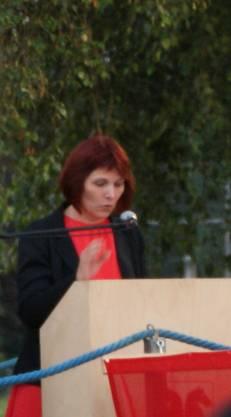 (6) Durch den Abend führte Franziska Sterchi (CVP Ortsparteipräsidentin)