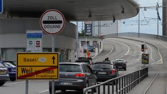 Zollübergang Basel/Weil am Rhein: Hier flog der Kokainschmuggler auf.