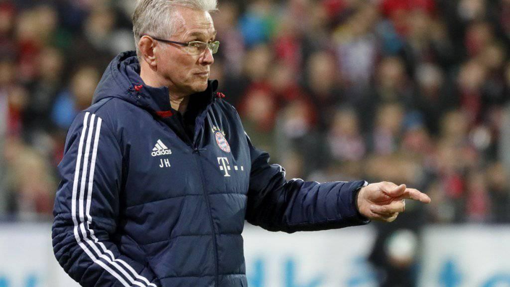 Für Jupp Heynckes und Bayern München beginnt mit dem Heimspiel gegen Borussia Dortmund die «heisse Phase»