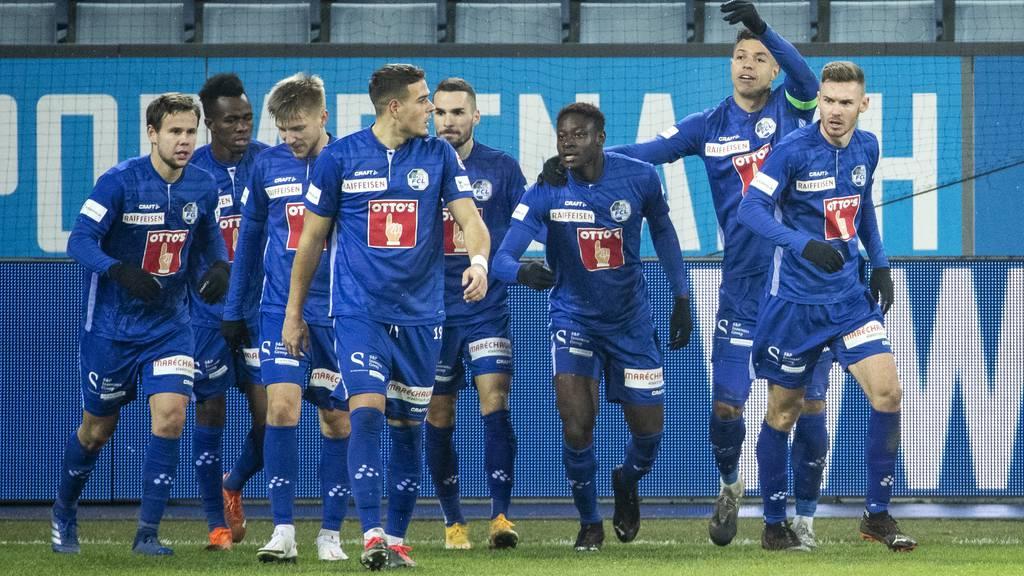 Der FCL am 2. Dezember 2020 beim 1:0 gegen Sion.