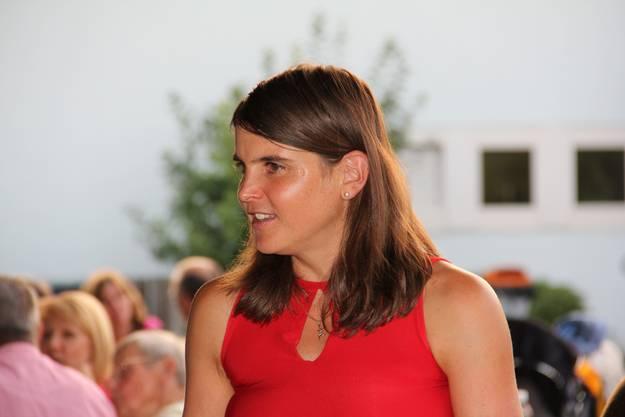 Anita Weyermann nach ihrer Rede