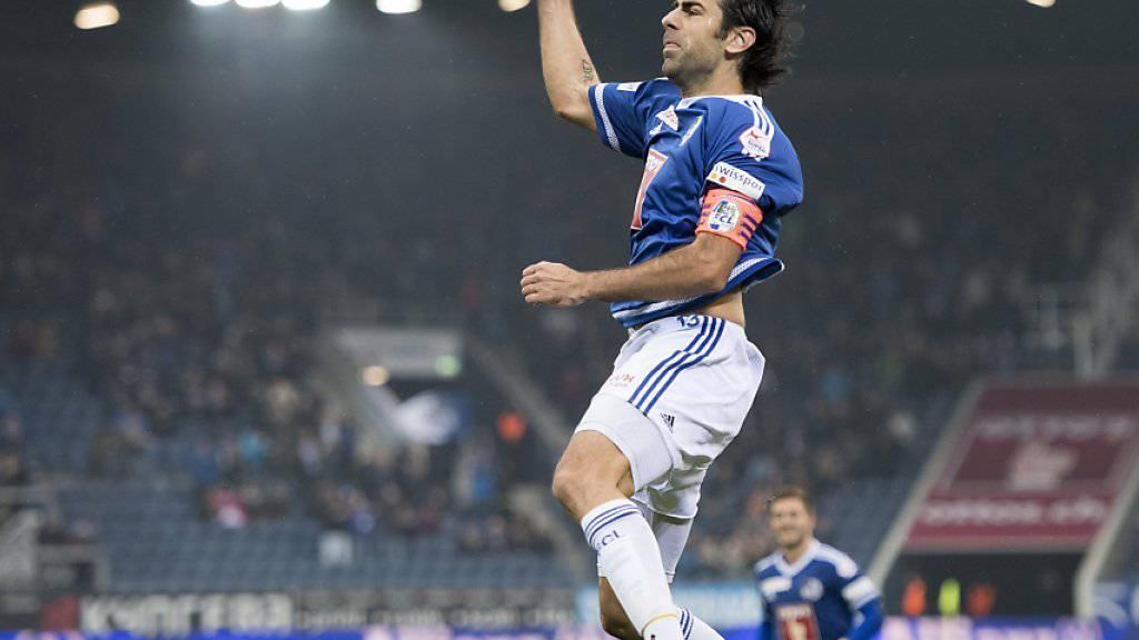 Gegen Lugano eingewechselt und mit dem 2:1 der Matchwinner: Luzerns Tomislav Puljic (Archivbild)