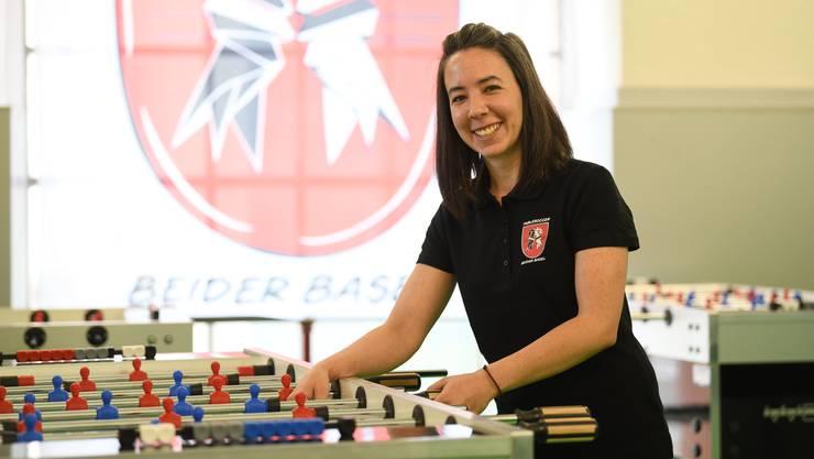 Beatrice Berner setzt sich für den Tischfussball in der Region Basel ein.