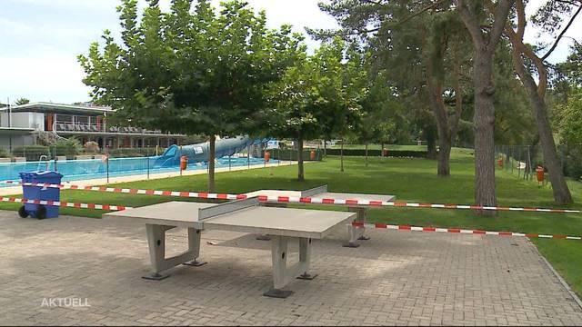 Trotz grosser Hitze will die Badi Brugg schliessen