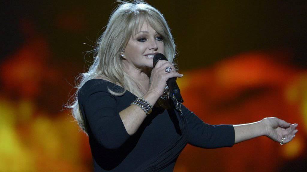 Bonnie Tyler auf ihrem vorläufig letzten musikalischen Höhepunkt, dem Eurovision Song Contest 2013. Dank einem millionenschweren Gatten und einem Botox-Abonnement ist sie dennoch glücklich. (Archivbild)