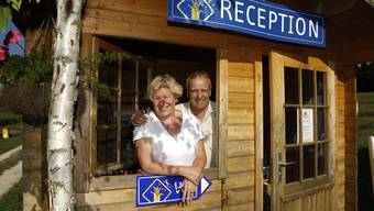 2013: Erika Bader Schluep und Herbert Schluep bei der Saisoneröffnung des Maishotels.