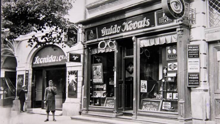 Eine bewegte Familien- und Firmengeschichte: Der Laden im siebenbürgischen Hermannstadt um 1935.