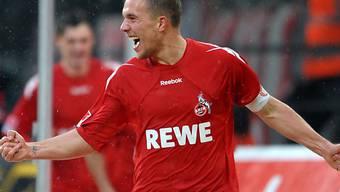 Kölns Captain Lukas Podolski erzielte das 2:0 gegen Hannover