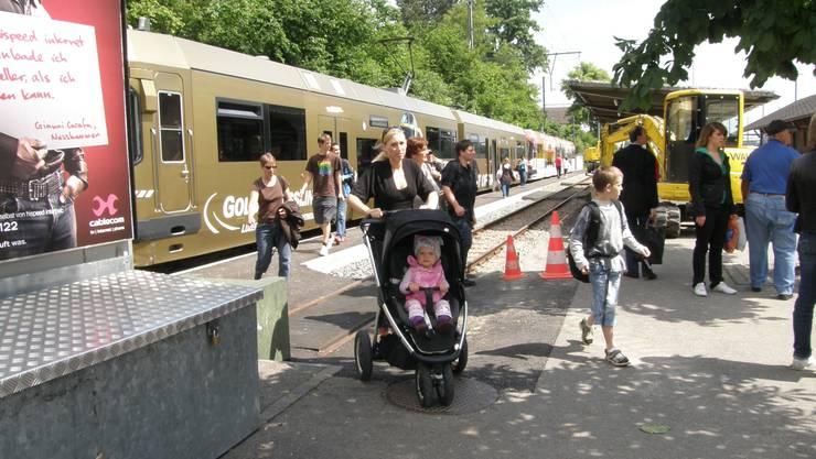 Im Sog des Viertelstundentaktes beförderte die BD-Bahn letztes Jahr 12 Prozent mehr Reisende. (ba)