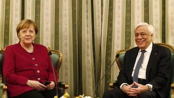 Bundeskanzlerin Angela Merkel ist am Freitag zu Besuch beim griechischen Staatspräsidenten Prokopis Pavlopoulos.