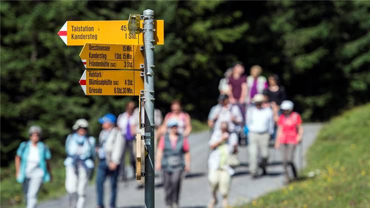 Über 60'000 Kilometer: Die Schweiz ist ein Wanderweg-Eldorado.