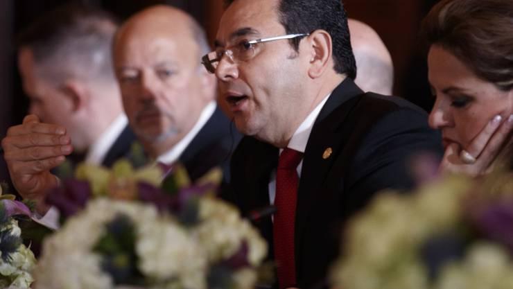 Der Präsident Guatemalas Jimmy Morales kann sich erneut Ermittlungen wegen Korruptionsverdachts entziehen. (Archivbild)