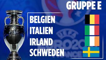 In Gruppe E treffen Belgien, Italien, Irland und Schweden aufeinander.