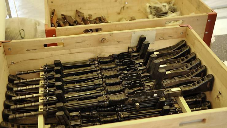 Der Ständerat will keine strengeren Regeln für Waffenexporte. Er hat zwei Vorstösse dazu abgelehnt. (Symbolbild)