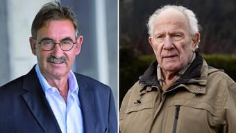 Der zurücktetretene Gemeindeammann André Zoppi (links) und das Würenlinger Polit-Urgestein Arthur Schneider (Aufnahme von 2019).