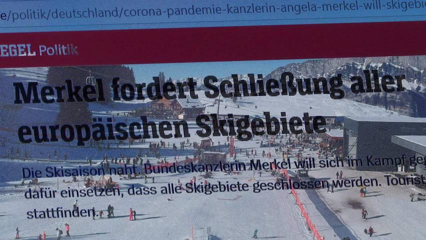 Forderung: Deutschland will Schliessung aller Skigebiete