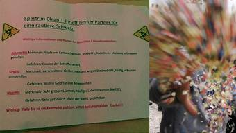 Dieser Flyer wurde an der Fasnacht in Mümliswil verteilt.