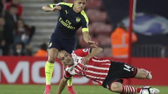 Erzielte das wegweisende 1:0 in Southampton: Arsenals Alexis Sanchez (im schwarzen Dress)