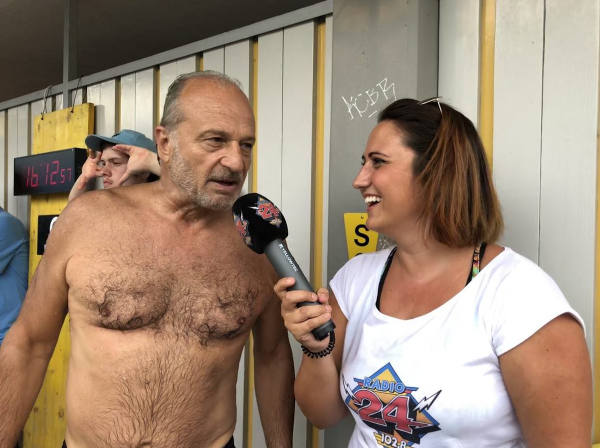 Sportlich unterwegs war Stadtrat Filippo Leutenegger, er kam als erster der politischen Ehrengäste ins Ziel. (© Radio 24)