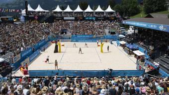 So sah es am 13. Juli dieses Jahres anlässlich des Viertelfinalspiels der Frauen am Beachvolleyballturnier in Gstaad aus.