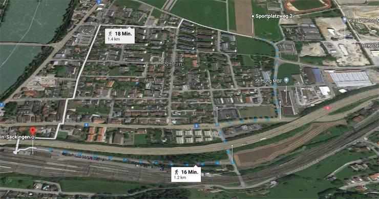 Kantonsschule in Stein: 16 Minuten Fussweg zum Bahnhof.