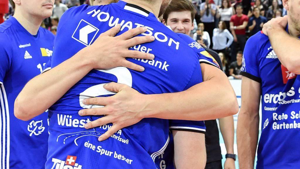 Volley Amriswil feiert das Double (Archivbild)