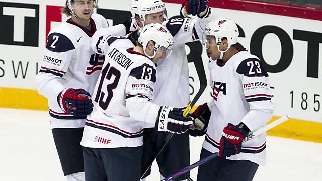 Die US-Boys liessen beim 5:3 gegen Weissrussland nichts anbrennen.