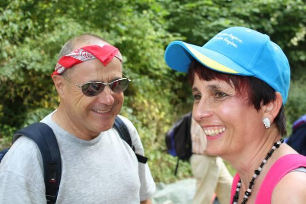 Claude Janiak und die EVP-Landrätin Elistabeth Augstburger