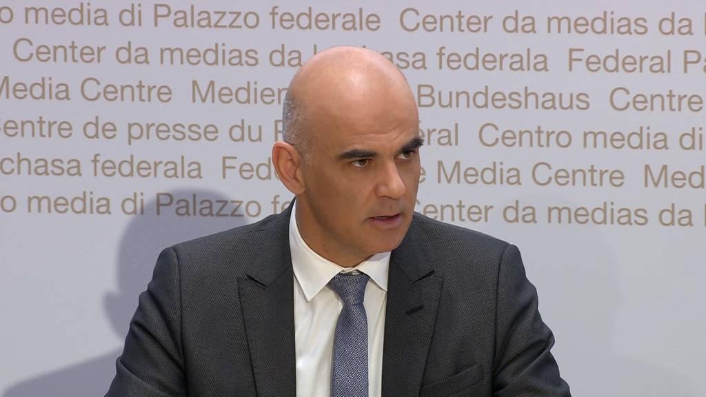 Alain Berset: «Der Bundesrat will das wirtschaftliche und gesellschaftliche Leben nicht verhindern - im Gegenteil.»