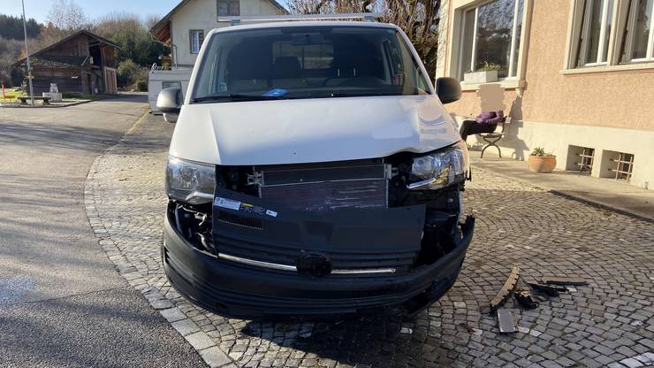 Der Lieferwagen des Unfallverursachers.