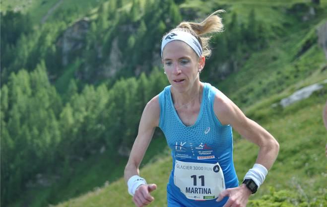 Martina Strähl Glacier 3000 Run in Gstaad.