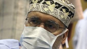 Abdel Basset al-Megrahi in seinem Spitalzimmer in Tripolis.