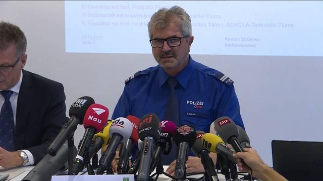 Aus der Medienkonferenz vom Montag, 23.10.: Das Wichtigste zum Axt-Angriff in Flums SG