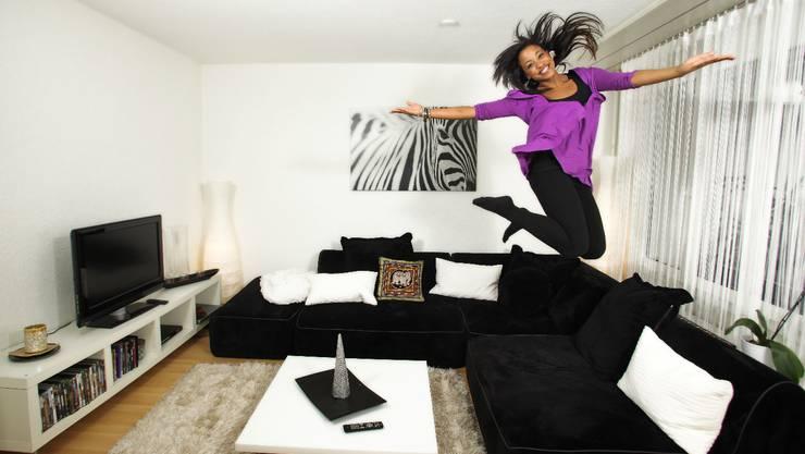 Fabienne Louves' erste eigene Wohnung: «Es muss vor allem gemütlich sein.»  (Bild: Chris Iseli)