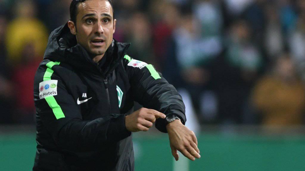 Für Alexander Nouri lief die Zeit als Trainer von Werder Bremen ab