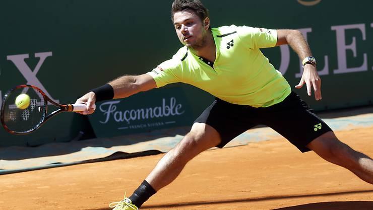 Stan Wawrinka muss sich beim Masters-1000-Turnier in Monte Carlo im Viertelfinal dem Spanier Rafael Nadal geschlagen geben