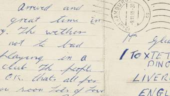 Ein wertvolles Sammlerstück für jeden Beatles-Fan: Diese Postkarte aus Hamburg hat Ringo Starr seinem Liverpooler Grosi geschickt (Archiv)