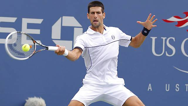 Voll konzentriert: Novak Djokovic