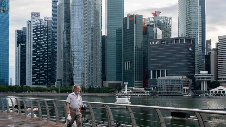Blick auf die globale Finanzmetropole Singapur im vergangenen Juli.