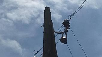Stromunterbruch wegen Blitzeinschlag