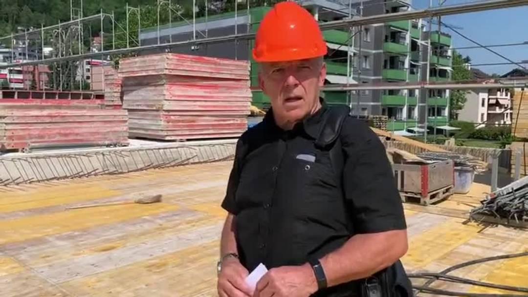 Rundgang mit Peter Vogel, Hochbauvorstand Geroldswil