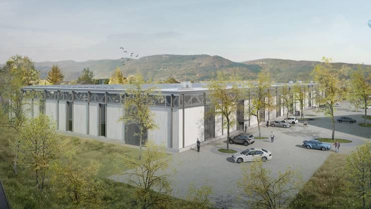 So wird die neue Werkhalle der Ronal Group in Härkingen auf 5594 Quadratmetern aussehen, wenn der Bau Mitte 2020 realisiert ist.