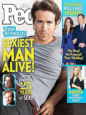 Ryan Reynolds auf dem Cover des People-Magazin.