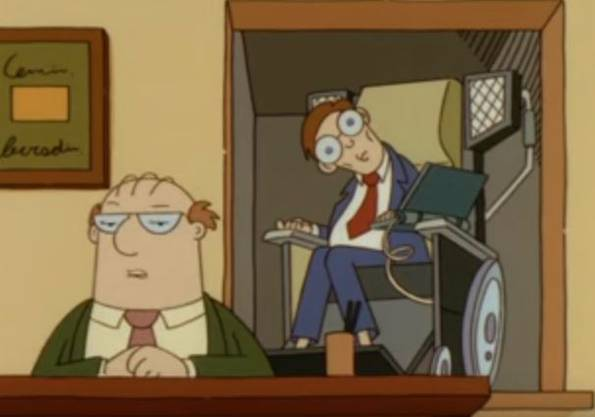 Stephen Hawking in «Dilbert».