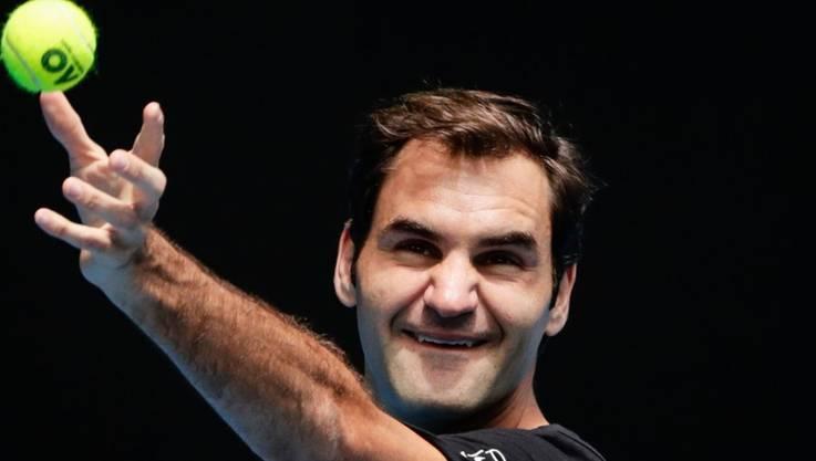 Titelverteidiger Roger Federer gehört am Australian Open in Melbourne zu den Favoriten auf den Turniersieg