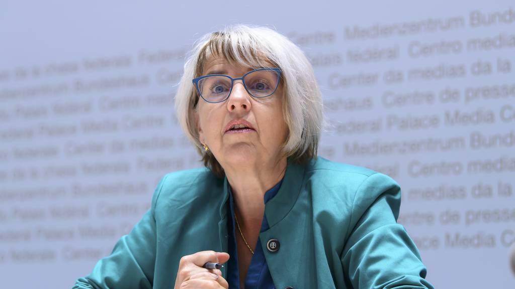 Elisabeth Baume-Schneider befindet sich in Quarantäne