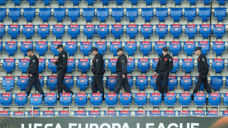 Über Tausend Polizisten standen am Europa-League-Final in Basel im Einsatz.